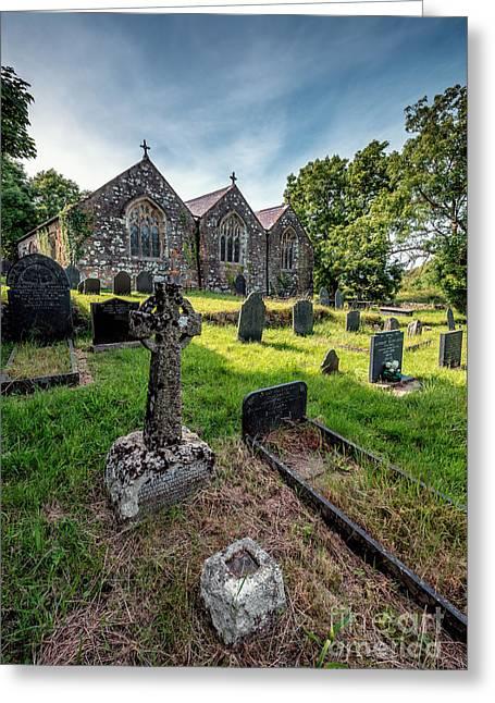 Ancient Graveyard   Greeting Card by Adrian Evans