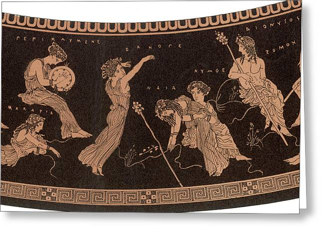 Ancient Greece A Female Dancer Greeting Card by Mary Evans Picture Library