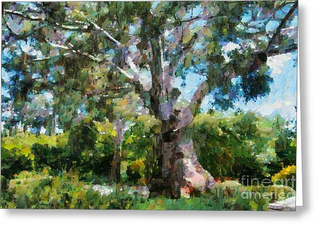 Greeting Card featuring the digital art Ancient Gum Tree by Fran Woods
