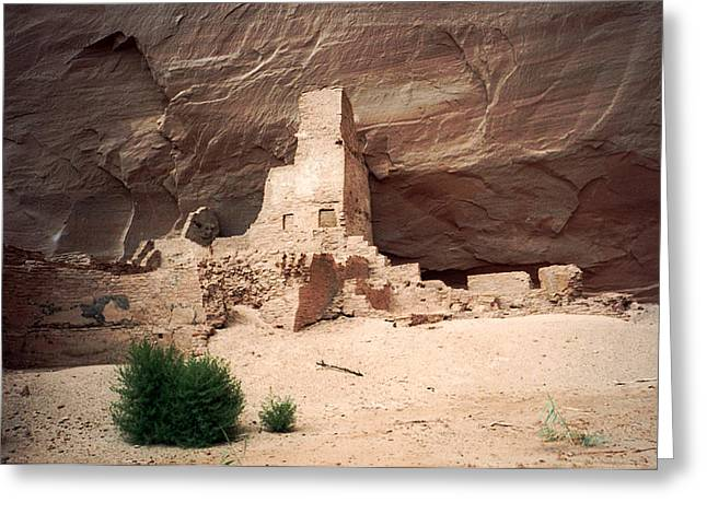 Ancient Homes In Canyon De Chelly 1993 Greeting Card by Connie Fox