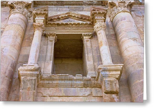 Ancient Jerash Gate, Amman, Jordan Greeting Card
