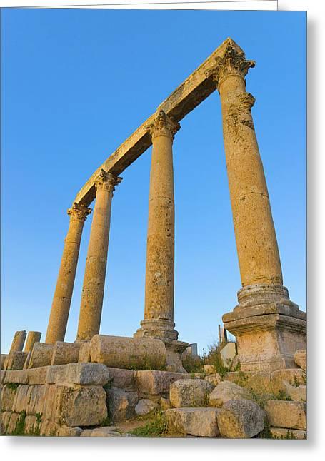 Ancient Jerash Ruins, Amman, Jordan Greeting Card