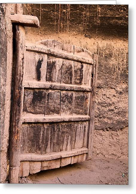 Ancient Kasbah Door Greeting Card by Sophie Vigneault