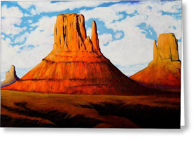 Ancient Land Monument Valley Greeting Card by Joe  Triano