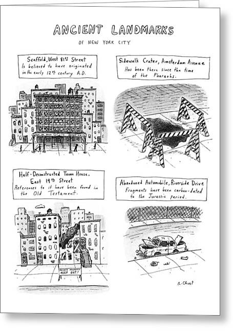 Ancient Landmarks Of New York City Greeting Card