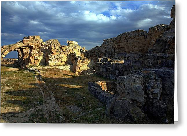 Greeting Card featuring the photograph Ancient Landscape North Cyprus by Jim Vance