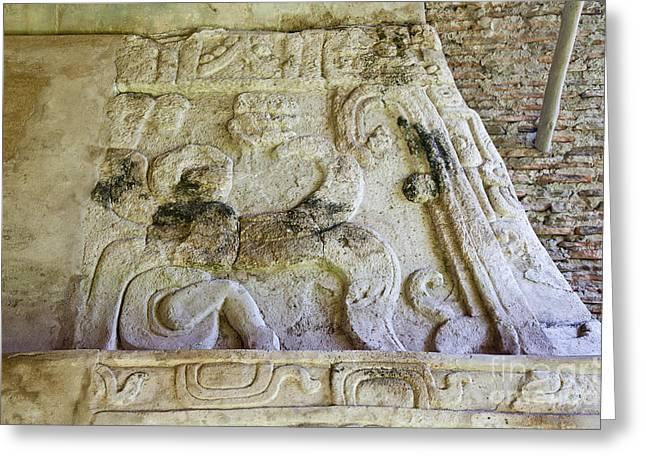 Ancient Mayan Carving Greeting Card