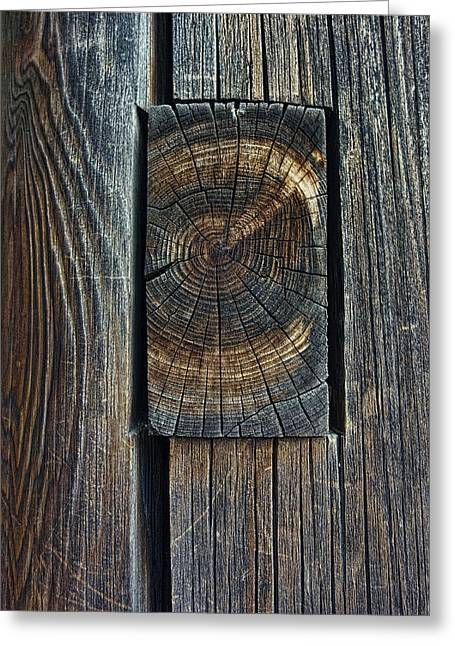 Ancient Mortise And Tenon Joint - Japan Greeting Card by Daniel Hagerman