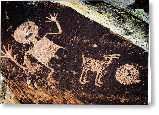 Ancient Native American Petroglyphs Greeting Card