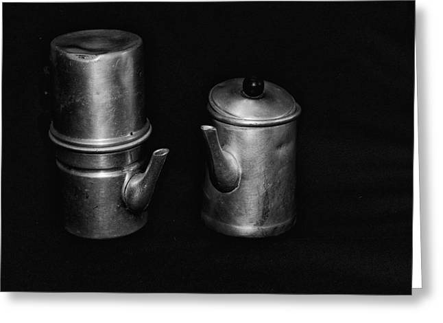 Ancient Neapolitan Coffee Machines Greeting Card by Giovanni Chianese