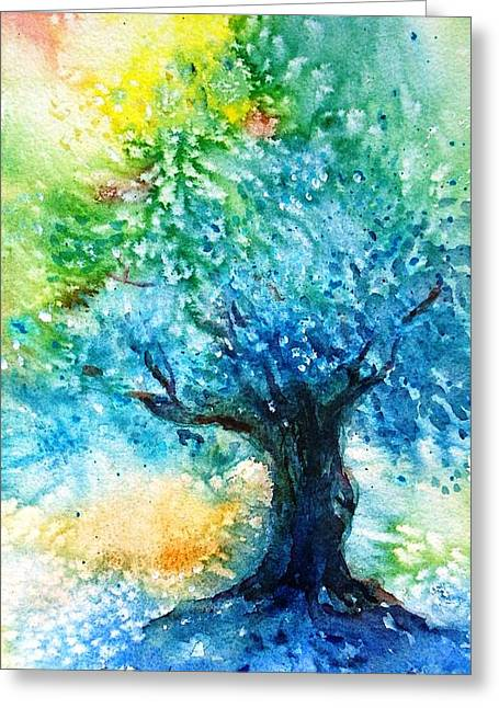 Ancient Olive Tree  Athenas Gift  Greeting Card by Trudi Doyle
