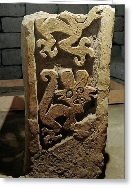 Ancient Peruvian Carvings Greeting Card