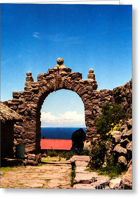 Ancient Portal Greeting Card by Suzanne Luft