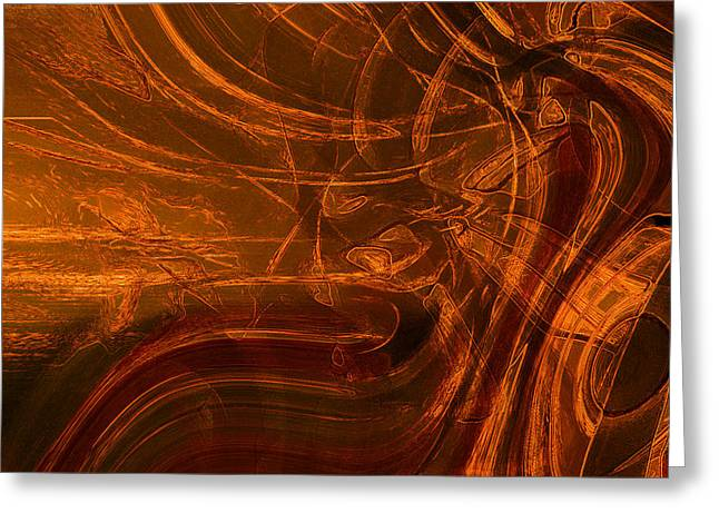 Greeting Card featuring the digital art Ancient by Richard Thomas