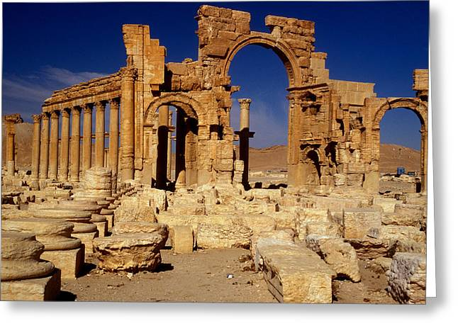 Ancient Roman City Of Palmyra, Syria Photo Greeting Card