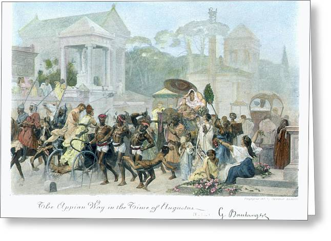 Ancient Rome Appian Way Greeting Card by Granger