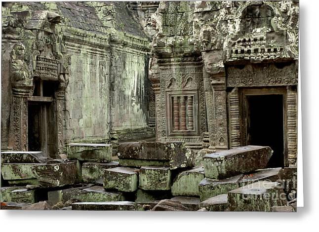 Ancient Ruins Cambodia Greeting Card