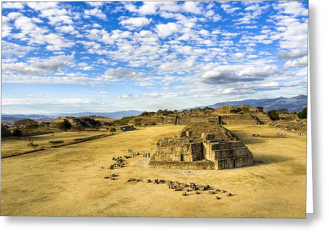 Ancient Ruins Of A Zapotec Temple Greeting Card by Mark E Tisdale
