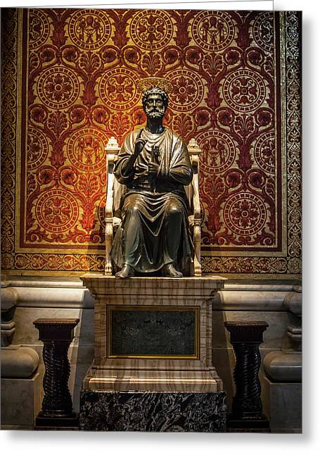 Ancient Statue Of Saint Peter, St Greeting Card