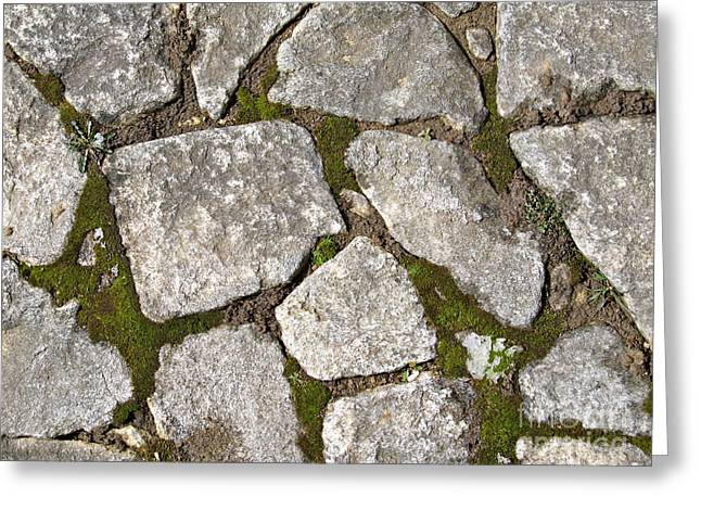 Ancient Stone Tiles Greeting Card by Kiril Stanchev