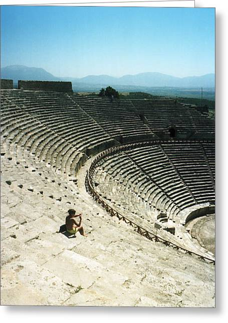 Ancient Theatre In The Ruins Greeting Card