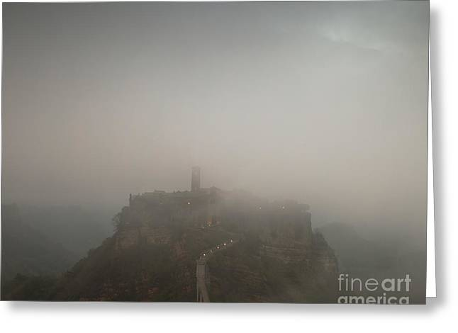 Ancient Town Of Civita Di Bagnoregio Lazio Italy Greeting Card by Matteo Colombo