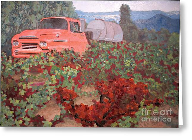 Ancient Truck Greeting Card by Donna Schaffer