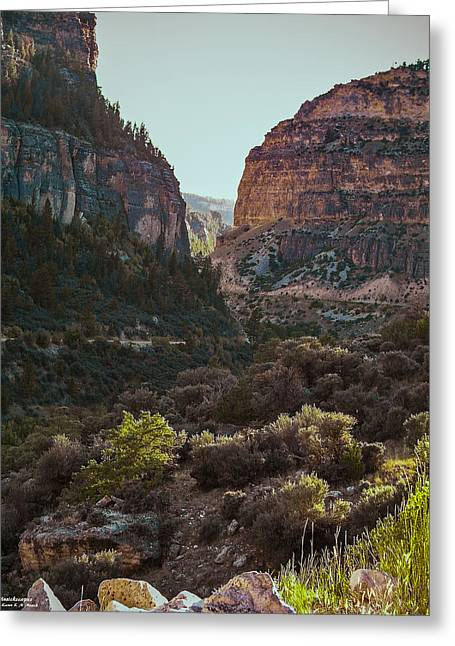 Greeting Card featuring the photograph Ancient Walls In Wyoming by Karen Musick