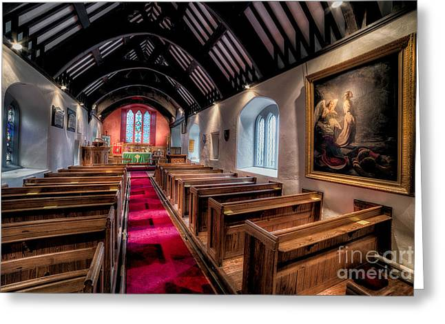 Ancient Welsh Church Greeting Card by Adrian Evans