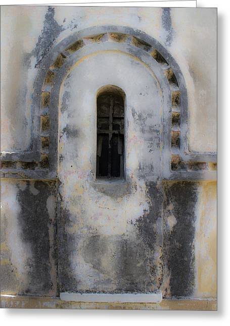Ancient Window Greeting Card by Radoslav Nedelchev