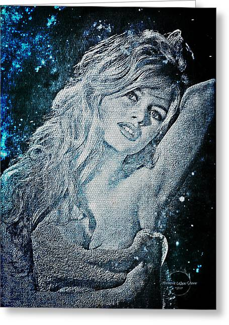 And God Created Woman Greeting Card by Absinthe Art By Michelle LeAnn Scott