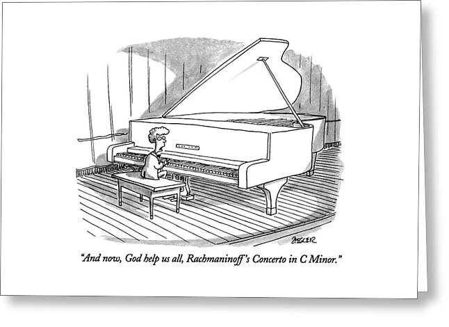 And Now, God Help Us All, Rachmaninoff's Concerto Greeting Card
