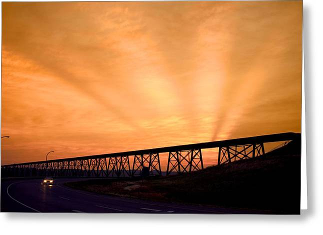 Greeting Card featuring the photograph And The Sky Was On Fire by Trever Miller