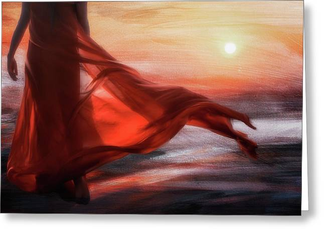 And The Sun Will Make For Your Way... Greeting Card