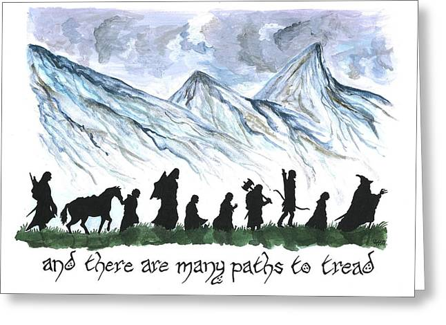 And There Are Many Paths To Tread Greeting Card by Bryana  Johnson