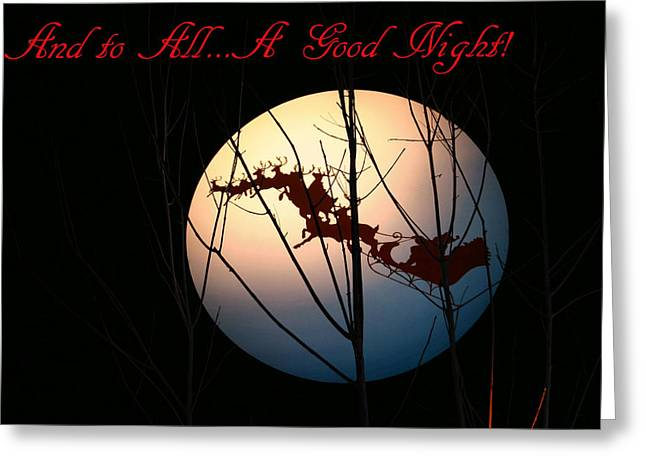 And To All A Good Night Greeting Card