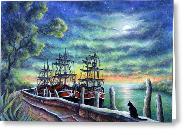 And We Shall Sail My Love And I Greeting Card by Retta Stephenson