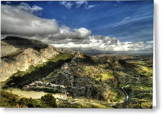 Greeting Card featuring the photograph Andalusia - Mountain View by Julis Simo
