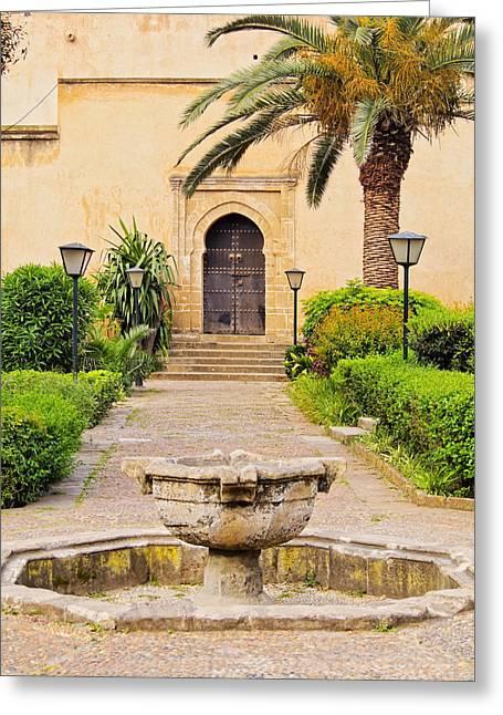 Andalusian Gardens In Rabat Greeting Card