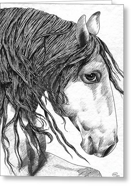 Andalusian Horse Greeting Card by Kate Black