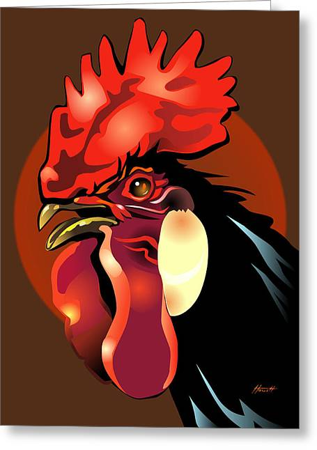 Andalusian Rooster 2 Greeting Card by Patricia Howitt