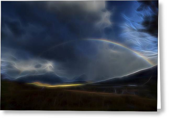 Andean Rainbow Greeting Card by William Horden