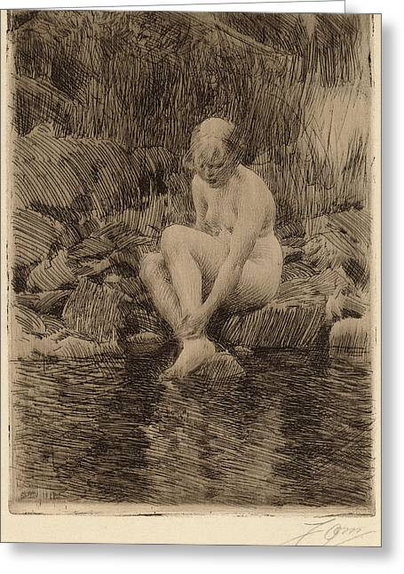 Anders Zorn, Dagmar, Swedish, 1860 - 1920 Greeting Card by Quint Lox