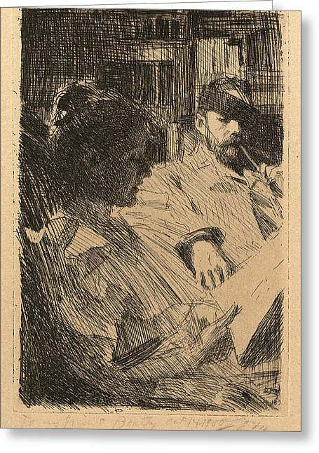 Anders Zorn, Reading La Lecture, Swedish Greeting Card by Quint Lox
