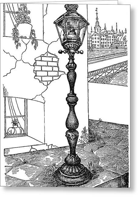 Andersen Old Street Lamp Greeting Card