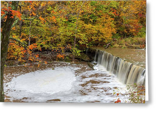 Anderson Falls On Fall Fork Of Clifty Greeting Card by Chuck Haney