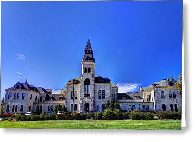 Anderson Hall At K-state Greeting Card by Jean Hutchison