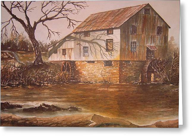 Anderson Mill Greeting Card by Ben Kiger