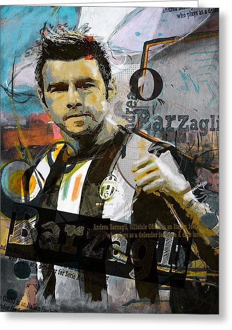 Andrea Barzagli - C Greeting Card by Corporate Art Task Force