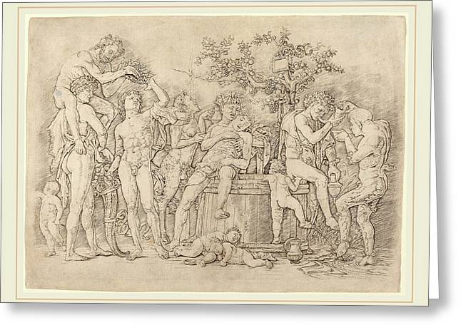 Andrea Mantegna Italian, C. 1431-1506, Bacchanal Greeting Card by Litz Collection